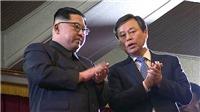Nhà lãnh đạo Triều Tiên Kim Jong-un vỗ tay tán thưởng dàn nghệ sĩ Hàn Quốc