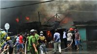 Cháy kinh hoàng thiêu rụi nhiều căn nhà ở thành phố Mỹ Tho, Tiền Giang
