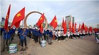 Hơn 1.000 thanh niên tham dự lễ ra quân chiến dịch 'Biển Việt Nam xanh'