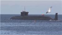 VIDEO: Xem tàu ngầm Nga phóng loạt tên lửa đạn đạo trong vụ thử lớn nhất kể từ Chiến tranh Lạnh
