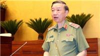 Bộ trưởng Bộ Công an Tô Lâm trình bày dự án Luật Công an nhân dân