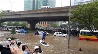 Mưa dông, cảnh báo ngập lụt khu vực nội thành Hà Nội