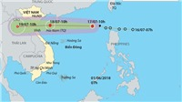 Bão số 3 giật cấp 10 lượng mưa lớn từ 200-300mm, Hà Nội dông