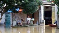 Bùi Xá, Xuân Mai, Hà Nội vẫn ngập trong nước lũ