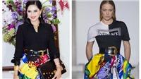 Diễn viên Thủy Tiên 'đọ dáng' Jennifer Lopez trong mẫu váy 'thần thánh' của Versace