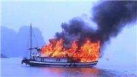 Cháy tàu chở khách tuyến đảo Vân Đồn - Cô Tô