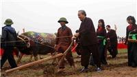 Phó Thủ tướng Thường trực Chính phủ Trương Hòa Bình thực hiện nghi lễ cày tịch điền