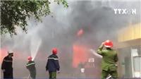 VIDEO: Cháy tổ hợp khách sạn, nhà hàng, karaoke thành phố Vinh, Nghệ An