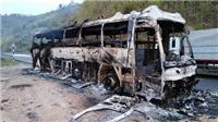 Điện Biên: Cháy xe khách giường nằm trên đèo Pha Đin