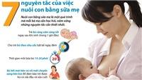7 nguyên tắc của việc nuôi con bằng sữa mẹ