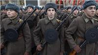 Quân đội Nga tổng duyệt cho lễ diễu binh lịch sử trên Quảng trường Đỏ