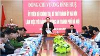 Bí thư Thành ủy Hà Nội Vương Đình Huệ làm việc với Công an thành phố về chống dịch COVID-19