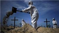 Brazil: Bãi biển nổi tiếng hóa 'nghĩa trang' tưởng niệm nạn nhân COVID-19