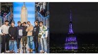 Tòa Empire State - biểu tượng của New York cũng phải đổi màu vì BTS!