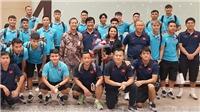 VIDEO bóng đá: Những hình đầu tiên của đội tuyển Việt Nam trên đất Indonesia