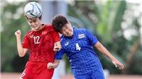 Nữ Việt Nam ra quân tại SEA Games 30: HLV Mai Đức Chung hài lòng với 1 điểm từ tay người Thái!