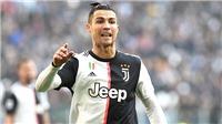 Bóng đá Ý: Ronaldo lại tỏa sáng, Milan mất điểm khi vắng Ibra