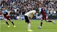 West Ham 2-0 MU: Thêm một trận thua sân khách, ghế Solskjaer lung lay