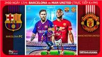 Barca vs MU (02h00 ngày 17/4): Về miền đất hứa Camp Nou