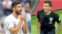 Giroud vs Mandzukic: Những tiền đạo 'lạc loài' (VTV6 trực tiếp Pháp vs Croatia)