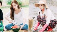 'Thư ký Kim' Park Min Young trông vẫn xinh xắn, đáng yêu cả khi ngồi bùn cát