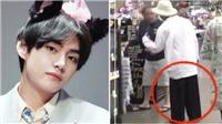 V (BTS) đang tạo 'trend' khắp thế giới với quần ống sớ thùng thình kiểu... bà già