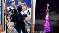 Busan đón BTS với nhiều công trình 'nhuộm' tím