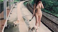 Mặc bikini dắt chó đi dạo, ca sĩ Australia gốc Á Kimberley Chen gây phẫn nộ