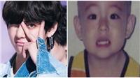 V BTS đang gây bão mạng với những bức ảnh cực 'cute' thời chập chững