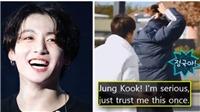 BTS: Jungkook chạy trốn như đứa trẻ khi nhất quyết không để Jin buộc tóc hộ