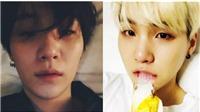 Suga BTS khiến fan 'chết lịm' với những bức ảnh 'selfie' từ trên... giường