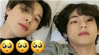 BTS: V và Jimin 'gây bão' với bức ảnh tự sướng trên giường vào 4 giờ sáng