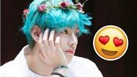 V BTS đẹp tinh quái trong mái tóc màu xanh