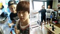Ảnh độc về tiệc sinh nhật BTS 1 tuổi: Các thành viên tự tay vào bếp thời 'khốn khó'