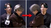 Jungkook tinh nghịch chơi trốn tìm với Jimin trong khi BTS đang phỏng vấn