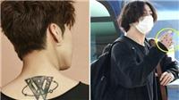 Jungkook BTS và dàn thần tượng K-pop tự tin khoe hình xăm dành tặng fan