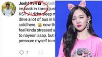 Fan đang lo sợ khi kẻ rình rập Nayeon Twice đã trở về Hàn Quốc