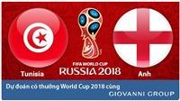 Dự đoán có thưởng World Cup 2018: Trận Tunisia – Anh