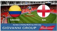 Dự đoán có thưởng World Cup 2018: Trận Colombia - Anh (Vòng 1/8)