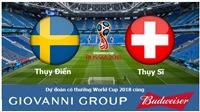 Dự đoán có thưởng World Cup 2018: Trận Thụy Điển – Thụy Sĩ (Vòng 1/8)