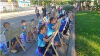 Vun đắp tình hữu nghị qua Cuộc thi vẽ tranh Em yêu Hà Nội - Thành phố vì hòa bình