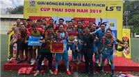 Đội Phóng viên Thể thao TP.HCM vô địch giải bóng đá Hội Nhà Báo TP.HCM 2019