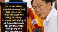 HLV Chung Hae Seong, bầu Đệ và V-League