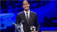 Van Dijk giành giải 'Cầu thủ xuất sắc nhất' UEFA