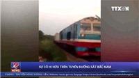 VIDEO 2 đoàn tàu suýt đối đầu nhau trên đường sắt Bắc Nam