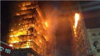 Sập nhà 26 tầng do hỏa hoạn