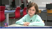 Thần đồng 8 tuổi được Bỉ tuyển thẳng vào đại học