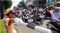 Hà Nội phân luồng giao thông để lắp đặt dầm cầu vượt nút giao An Dương