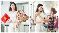 Hoa khôi Thúy Vi mang 145kg hành lý lên đường thi Hoa hậu châu Á Thái Bình Dương