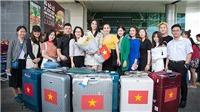 Trần Tiểu Vy lên đường thi Hoa hậu Thế giới 2018, mang theo 150kg hành lý